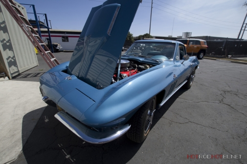 Joe's Blue Corvette